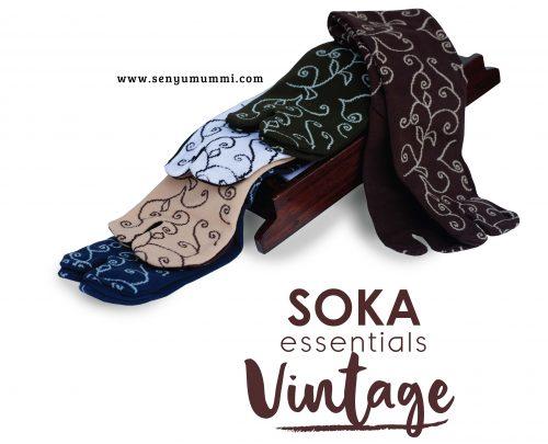 kaos kaki soka essentials vintage
