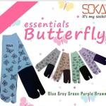 Kaos Kaki Soka Essentials Butterfly, si Kupu-kupu yang cantik di kaki
