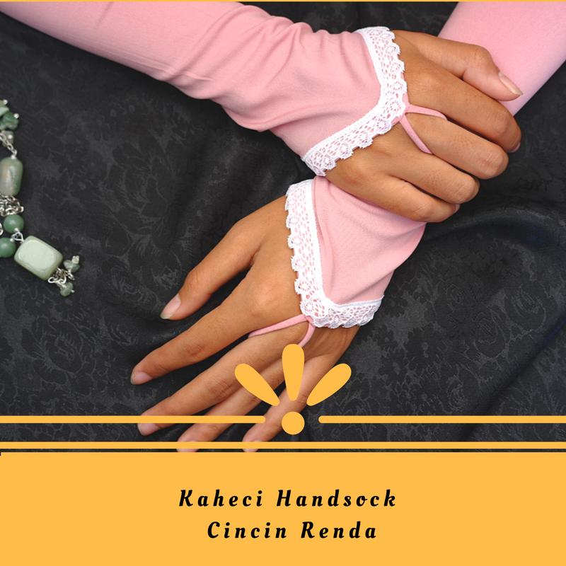 Kaheci Handsock cincin renda premium, tampil menawan menutup aurat .