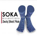 Soka Essentials Dusty Black Plain, Kaos Kaki Unisex elegan