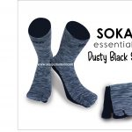 Soka Essentials Dusty Black Sole, Kaos Kaki Unisex yang elegan