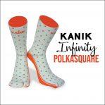 Jual Kaos Kaki Kanik Infinity Polka Square, Dijamin Harganya Miring!