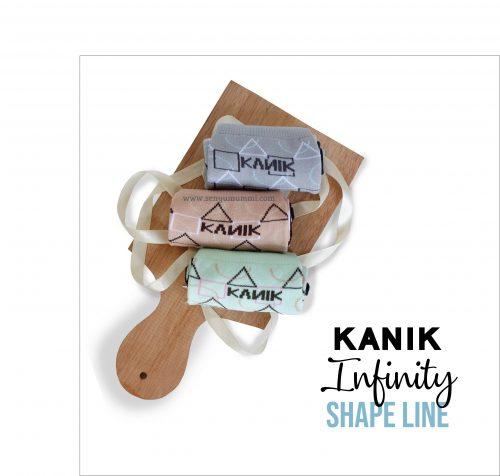 kaos kaki kanik infinity shape line