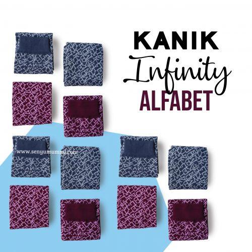 Kaos kaki kanik infinity alfabet