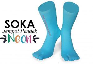 Soka Jempol Pendek Neon, Kaos Kaki Soka Neon Berkualitas
