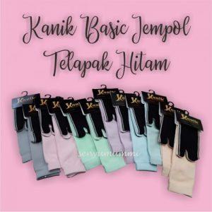 Kaos kaki Kanik Jempol telapak hitam L, favorit bagi muslimah