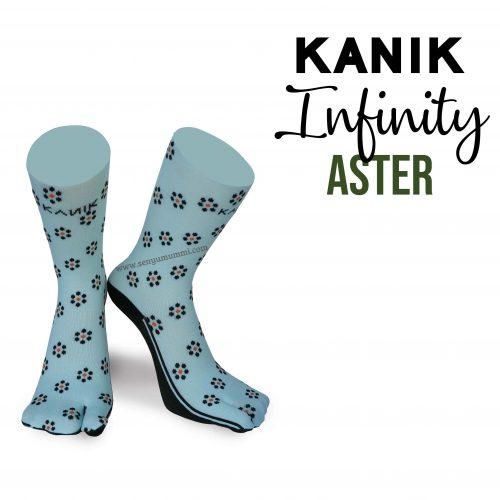 Kaos Kaki Kanik Infinity Aster yang fashionable