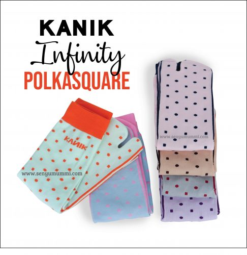 Kaos kaki Kanik Infinity Polka Square