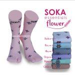Soka Essentials Flower, Kaos Kaki Motif Bunga Yang Cantik